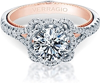 Verragio Halo Split Shank Engagement Ring