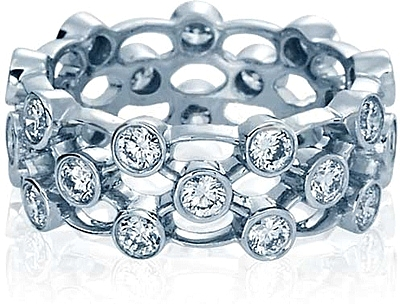 verragio large bezel set diamond wedding band wed 4025l