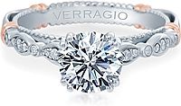 Verragio Pave & Bezel Set Diamond Engagement Ring