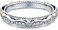 Verragio Pave & Bezel Set Diamond Wedding Band