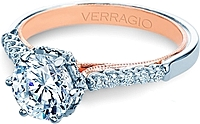Verragio Pave Two Tone Diamond Engagement Ring