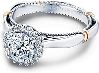 Verragio Prong Set Halo Diamond Engagement Ring