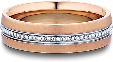 Gold band mens wedding ring