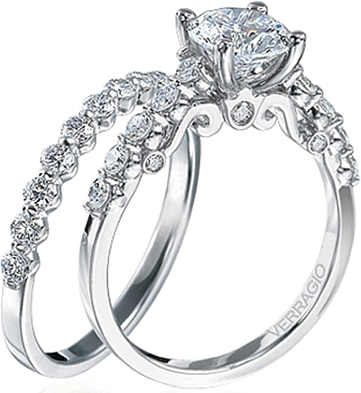 Verragio Round Brilliant Cut Diamond Engagement Ring INS 7034
