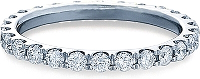 Verragio Round Brilliant Cut Diamond Eternity Wedding Band ENG 0349W
