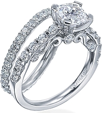 Verragio Round Brilliant Diamond Detailed Engagement Ring