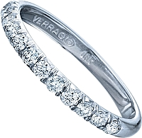 Verragio Shared Prong Diamond Wedding Band