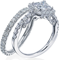 Verragio Shared-Prong Engagement Ring with Diamond Halo
