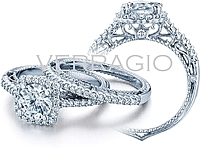 Verragio Sidestone Stone Diamond Engagement Ring