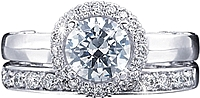 Verragio Solitaire Engagement Ring with Diamond Halo