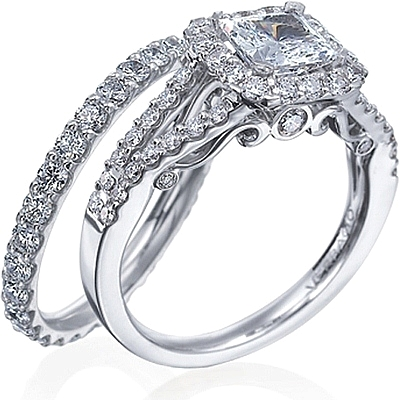 This Image Shows The Setting With A 125ct Princess Cut Center Diamond