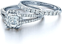 Verragio Split Shank Pave Diamond Engagement Ring