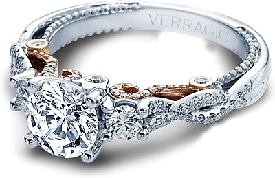 Verragio Three Stone Twist Engagement Ring INS7074RTT