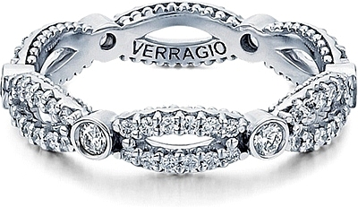 verragio twist bezel set diamond wedding band d w103r