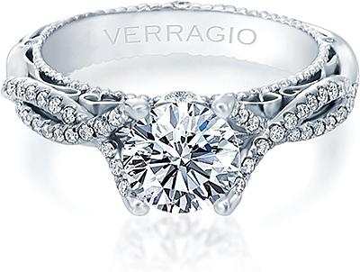 verragio twist shank diamond engagement ring afn5003 - Wedding Ring Prices