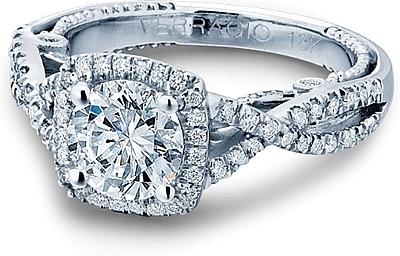 Verragio Twist Shank Diamond Engagement Ring Ins 7070cu