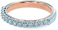 Verragio Two Tone Diamond Wedding Band
