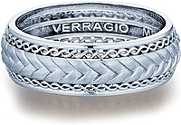 Verragio Woven Men's Wedding Band