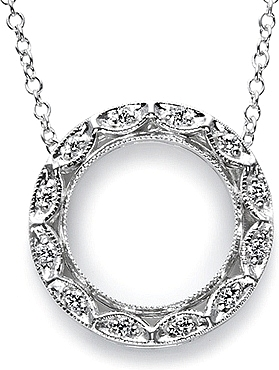 White gold and diamond circle pendant by tacori fp508 mozeypictures Image collections