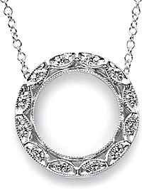 White Gold and Diamond circle pendant by Tacori