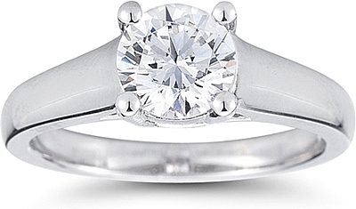 Wide Shank Solitaire Engagement Ring Us1406