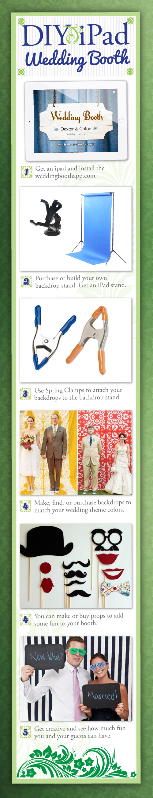 Diy wedding photo booth ipad wedding tips and inspiration wedding photobooth do it yourself n save solutioingenieria Choice Image