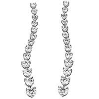 4.50ct Platinum diamond drop earrings