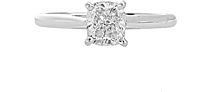 1.00ct AGS H/SI2 Cushion Cut Diamond Engagement Ring