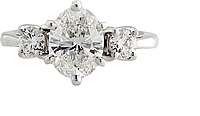 1.21ct GIA H/VS1 Oval Cut Diamond Engagement Ring