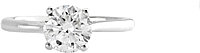 1.27ct AGS G/SI2 Round Brilliant Cut Diamond Engagement Ring