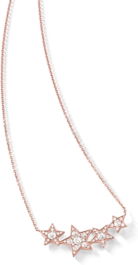 14k Rose Gold Diamond Star Necklace
