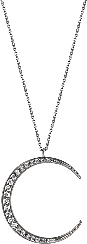 14K White Gold Black Rhodium Plated Diamond Pendant- .52ct TW