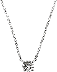 14k White Gold Diamond Solitaire Pendant- .84ct