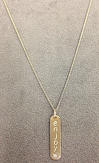 14k Yellow Gold Diamond 'Enjoy' Necklace