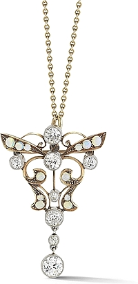14k Yellow Gold Estate Butterfly Pendant
