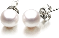 14k Yellow Gold Freshwater Pearl Studs- 9.5-10mm