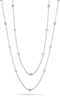 1.50ct 14k White Gold Diamonds By the Yard Necklace