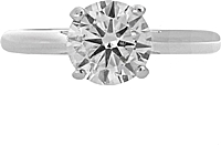 1.51ct AGS I/SI2 Round Brilliant Cut Diamond Engagement Ring Setting