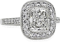 1.51ct GIA D/VS1 Cushion Cut Diamond Engagement Ring