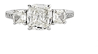 1.56ct EGL J/VVS1 Cushion Diamond Engagement Ring