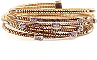 18k Rose Gold Diamond Wrap Bracelet