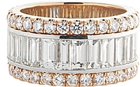18k White & Rose Gold Diamond Band