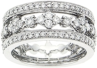 18k White Gold 1.30ct Diamond Band