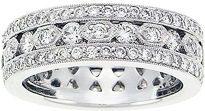 18k White Gold 1 45ct Diamond Pave Wedding Band 0 Reviews Write A Review View Photos