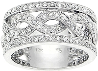 18k White Gold 1ct. Pave Diamond Band