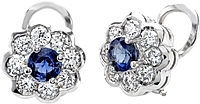18k White Gold 2.70ct Sapphire & Diamond Earrings
