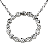 18k White Gold .35ct Diamond Infinity Pendant