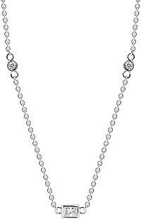 "18k White Gold 36"" Diamonds by the Yard-2.06cts"