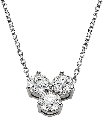 18k white gold 50ct 3 stone diamond necklace scsn1057a aloadofball Images