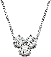 18k White Gold .50ct 3-Stone Diamond Necklace